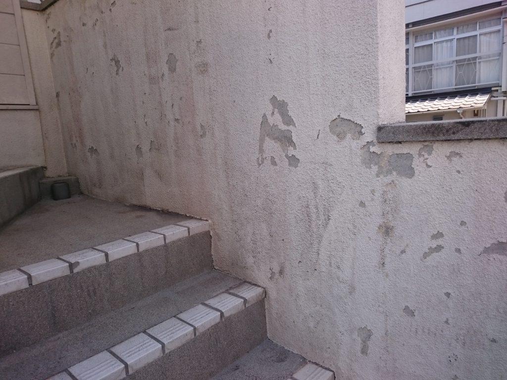 岡山市中区A様邸 塀 塗装前