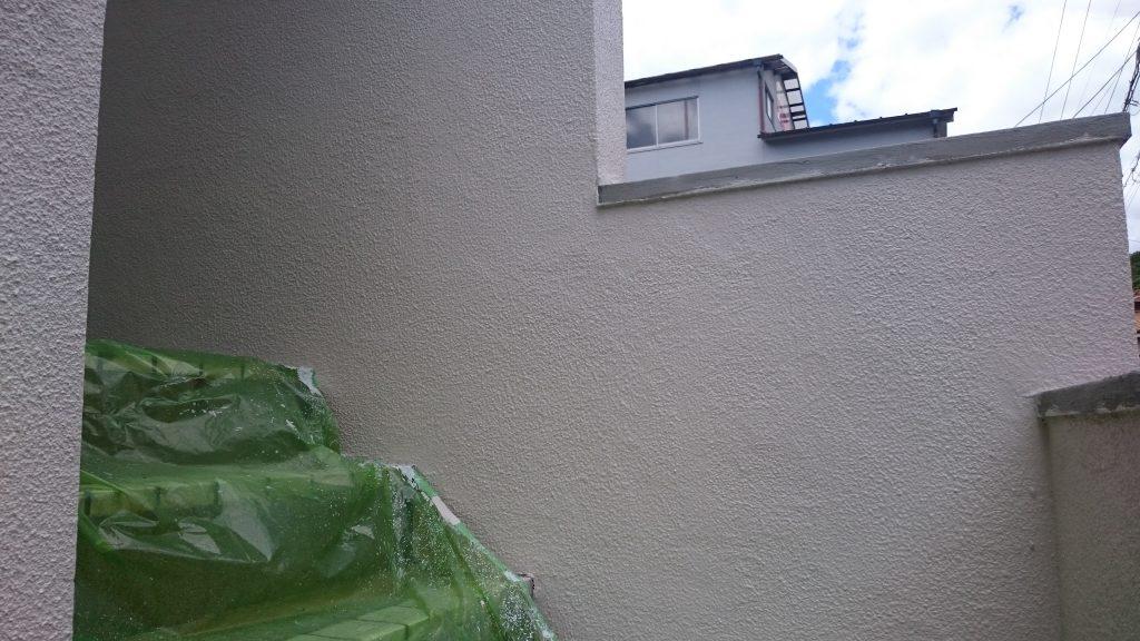 岡山市中区A様邸 塀 塗装後