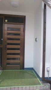 岡山市東区J様邸 外壁塗装後 玄関廻り