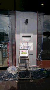 某店舗 ポスト塗装 シリコン樹脂上塗り完了