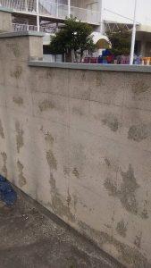 某企業様塀塗り替え工事 補修前