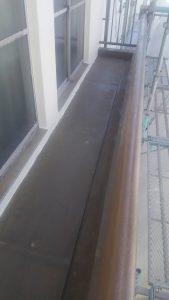 某企業様 ベランダ床 ウレタン塗膜防水施工前