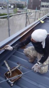 倉敷市某企業様 金属屋根塗装