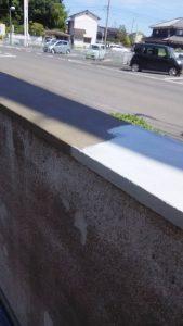 倉敷市某企業様塀塗替え工事 ウレタン塗膜防水材(二回塗り)