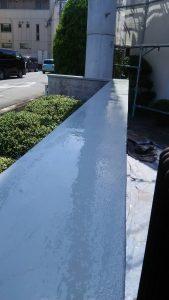 倉敷市某企業様塀塗替え工事  トップコート塗り完了