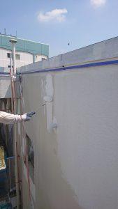 倉敷市某企業様 内面外壁下塗り施工