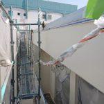 倉敷市某企業様 西面外壁塗装作業