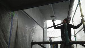 岡山市北区K.U様邸 外壁中塗り