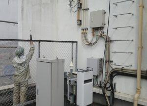 岡山市北区某ビル様 外壁高圧洗浄