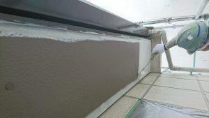 岡山市東区K様邸 軒裏専用下塗材塗装作業