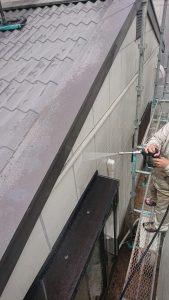 岡山市東区K様邸 外壁・屋根高圧洗浄 左面