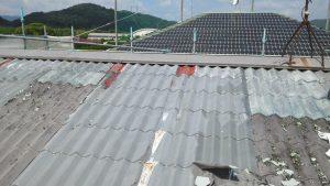 岡山市東区K.A様邸 金属屋根旧塗膜剥離作業前