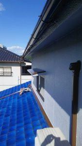 岡山市北区K.U様邸外壁樋と小庇部塗装