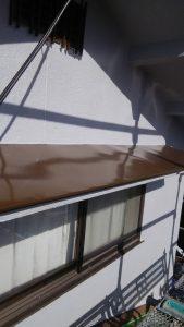 岡山市北区K.U様邸小庇等板金部塗装