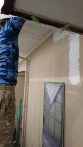 岡山市北区K.I様邸外壁塗装下塗り