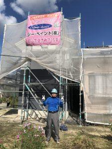 岡山市北区K.I様邸中塗り作業状況