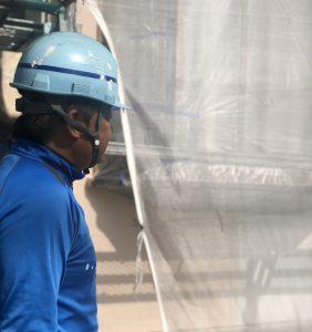 岡山市北区K.I様邸代表母屋中塗り作業