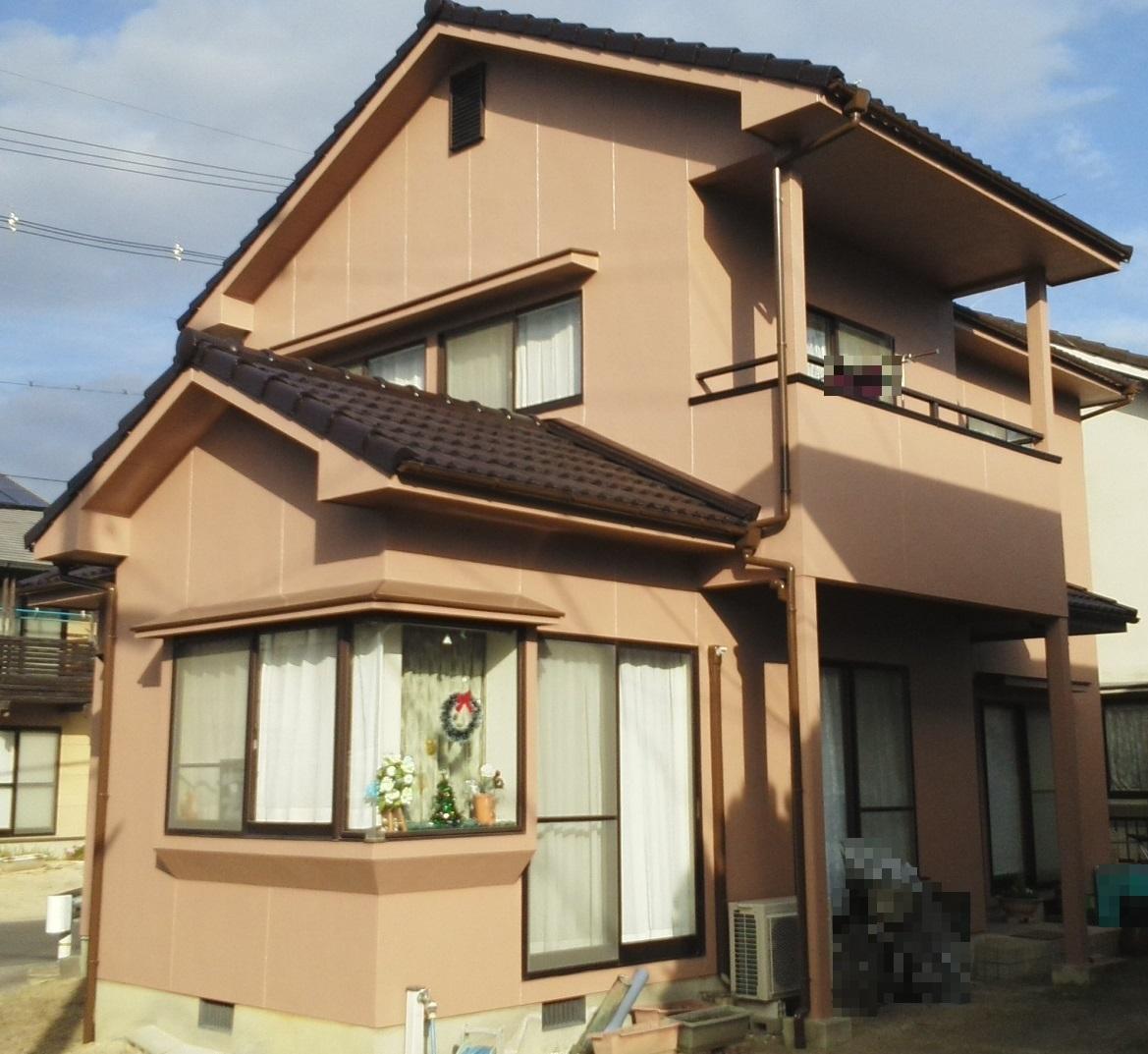 岡山市中区J様邸 屋根・外壁塗装工事 施工完了後