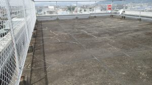 岡山市北区某ビル様 屋上防水工事 施工前