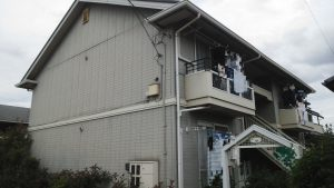 岡山市北区某コーポ様 屋根カラーベスト塗装工事・外壁塗装工事 施工前