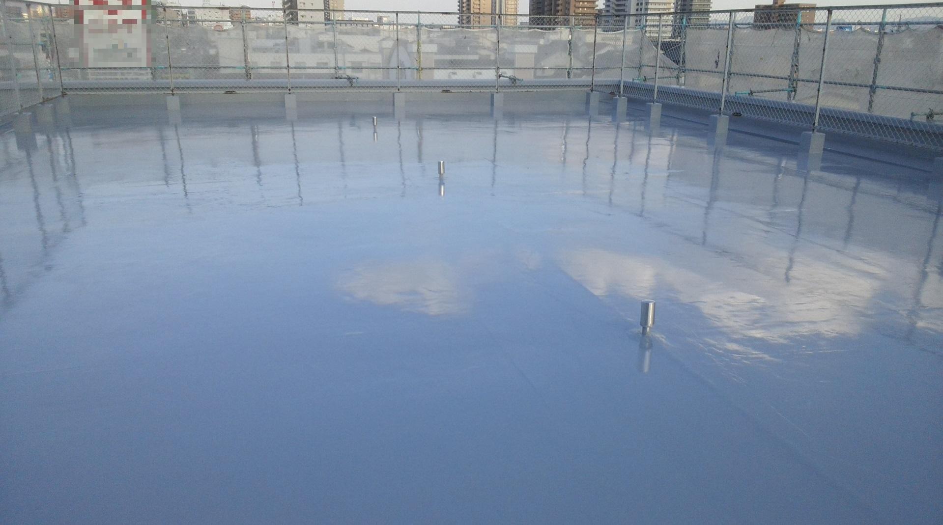 岡山市北区某ビル様 屋上防水工事 施工完了後
