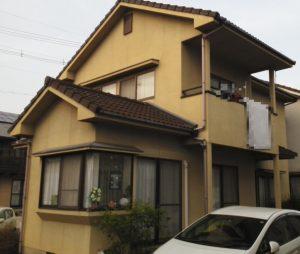 岡山市中区J様邸 屋根・外壁塗装工事 施工前