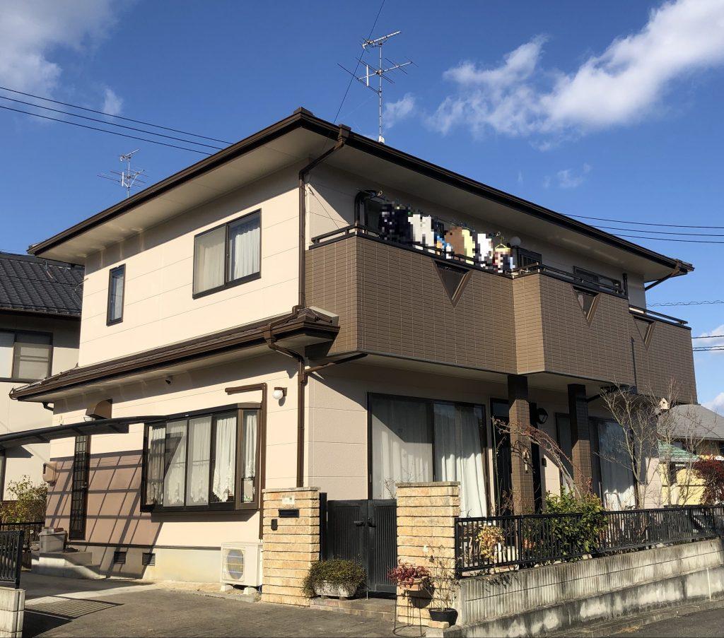 岡山市北区Y様邸 外壁塗装工事 施工完了後