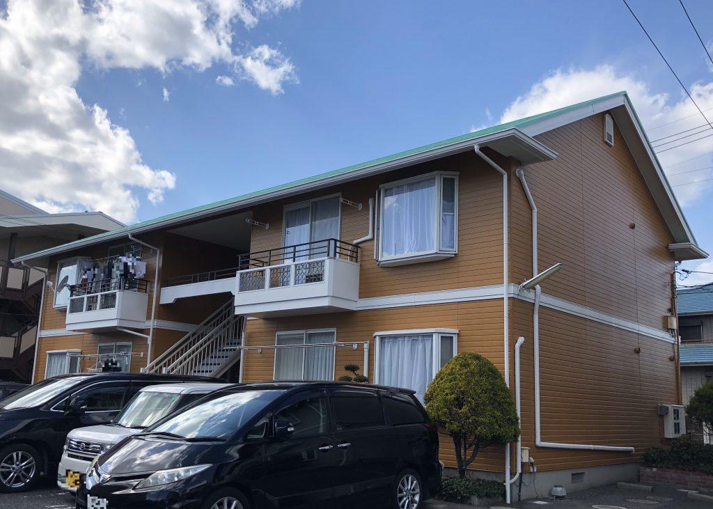 岡山市北区某コーポ様 屋根・外壁塗装工事 施工完了後