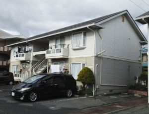 岡山市北区某コーポ様 屋根・外壁塗装工事 施工前