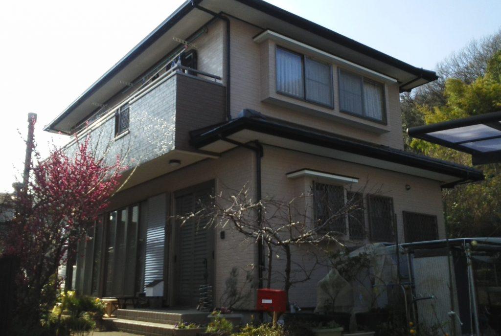 岡山市北区K様邸 外壁塗装・ベランダ防水工事 施工完了後
