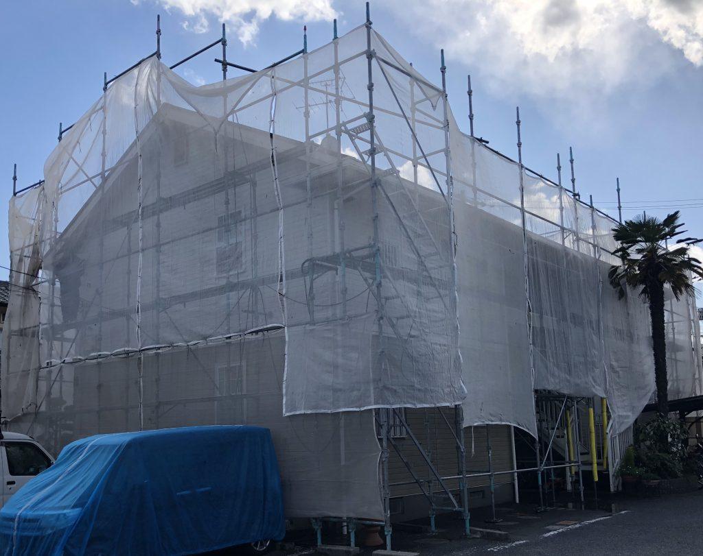 岡山市北区某コーポ 屋根・外壁塗装工事着工
