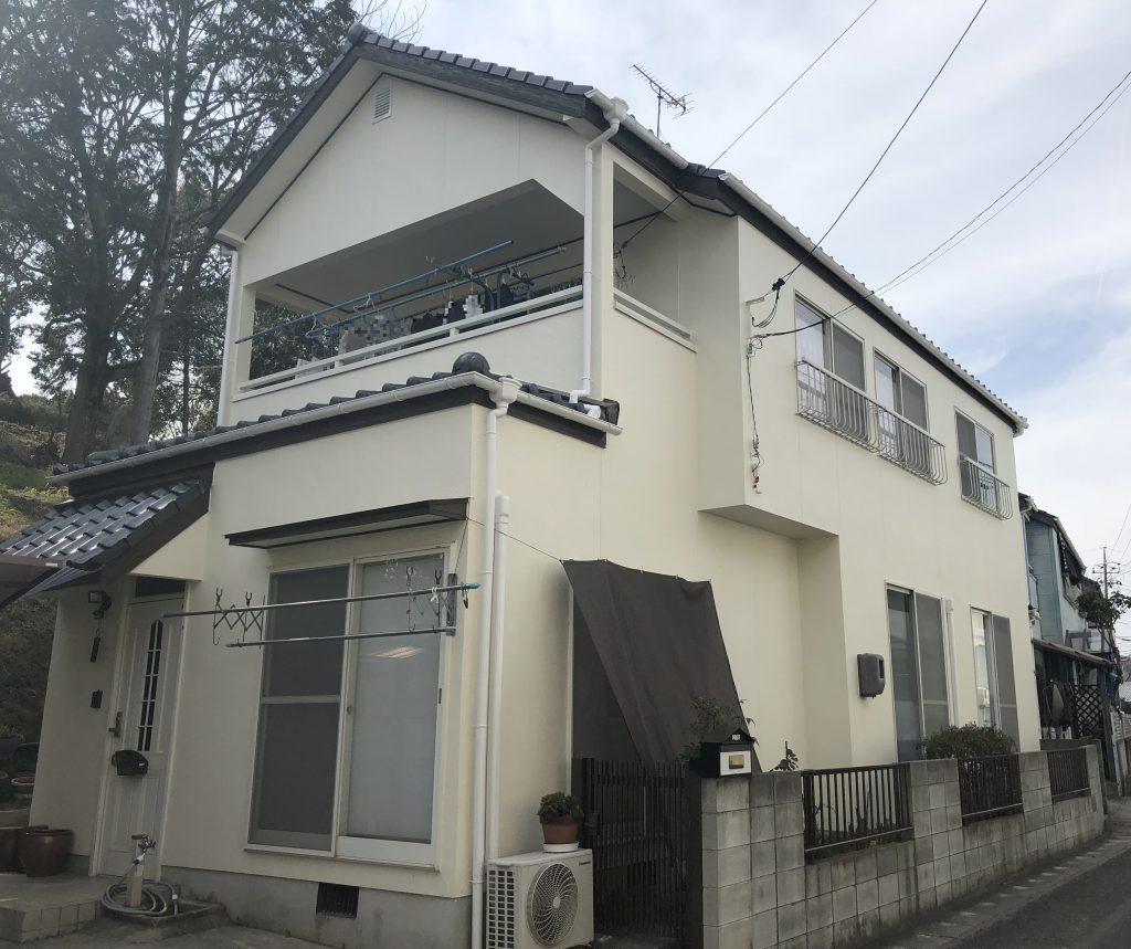 岡山市北区K様邸 外壁塗装工事 施工後