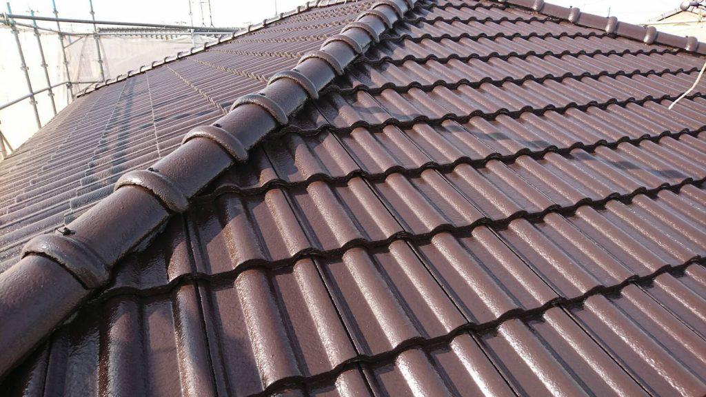 岡山市南区T様邸 屋根塗装工事 施工完了後