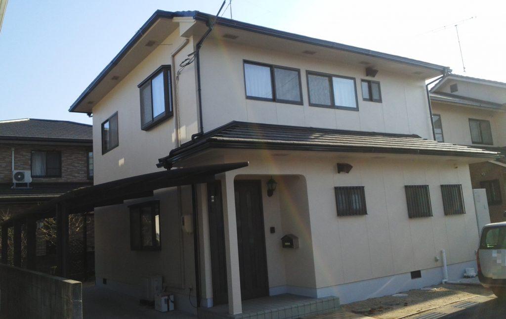 岡山市北区T様邸 外壁塗装工事 施工完了後