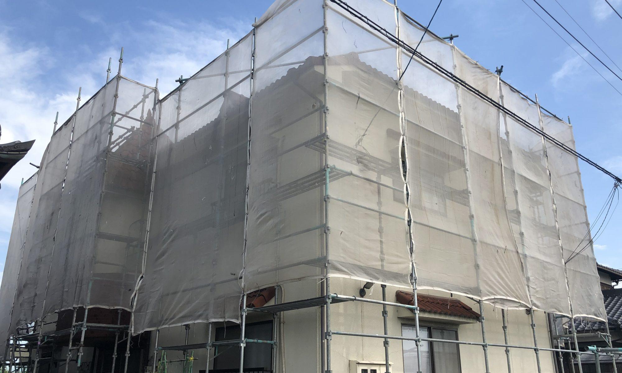岡山市東区某コーポ塗り替え工事着工