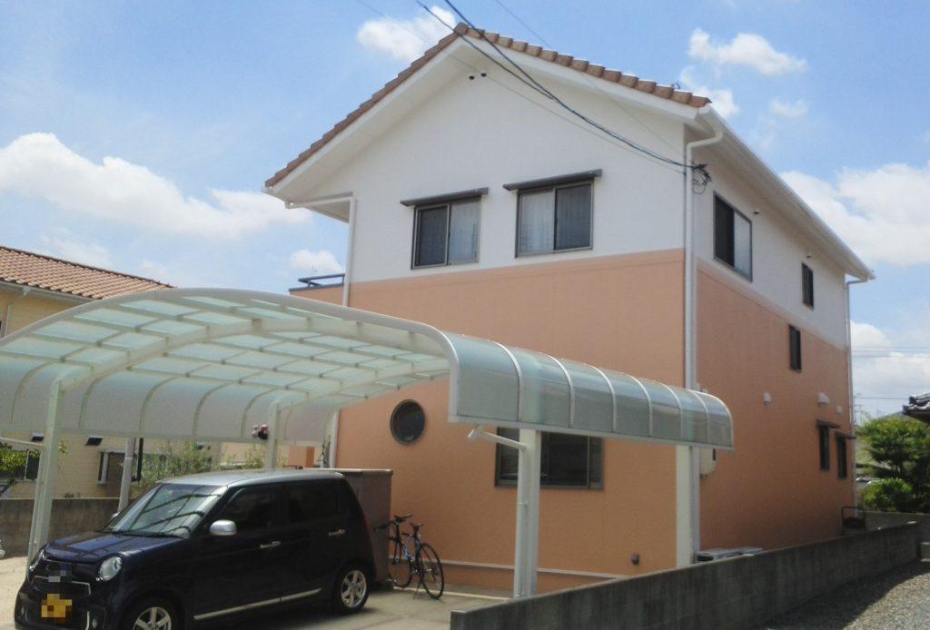 岡山市南区K様邸 外壁塗装工事 施工完了後