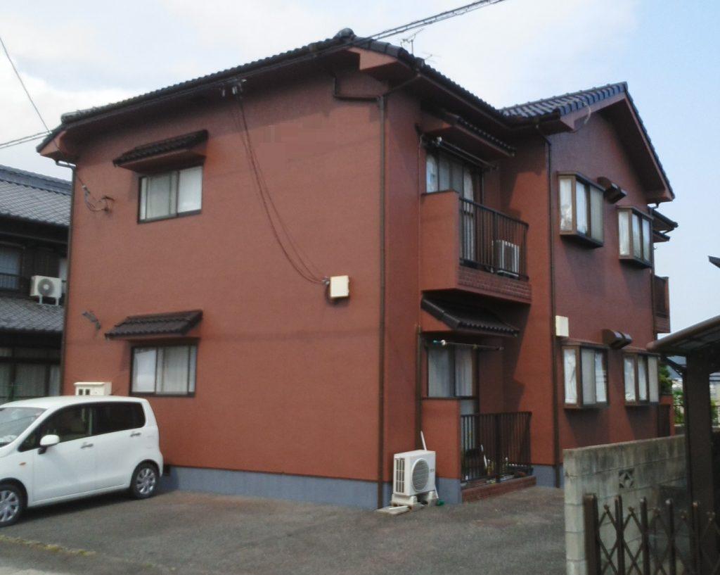 岡山市東区某コーポ 屋根・外壁塗装工事 施工完了後