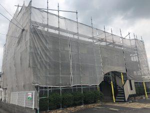 2019.6.29(土)岡山市東区某コーポ屋根・外壁塗装工事着工