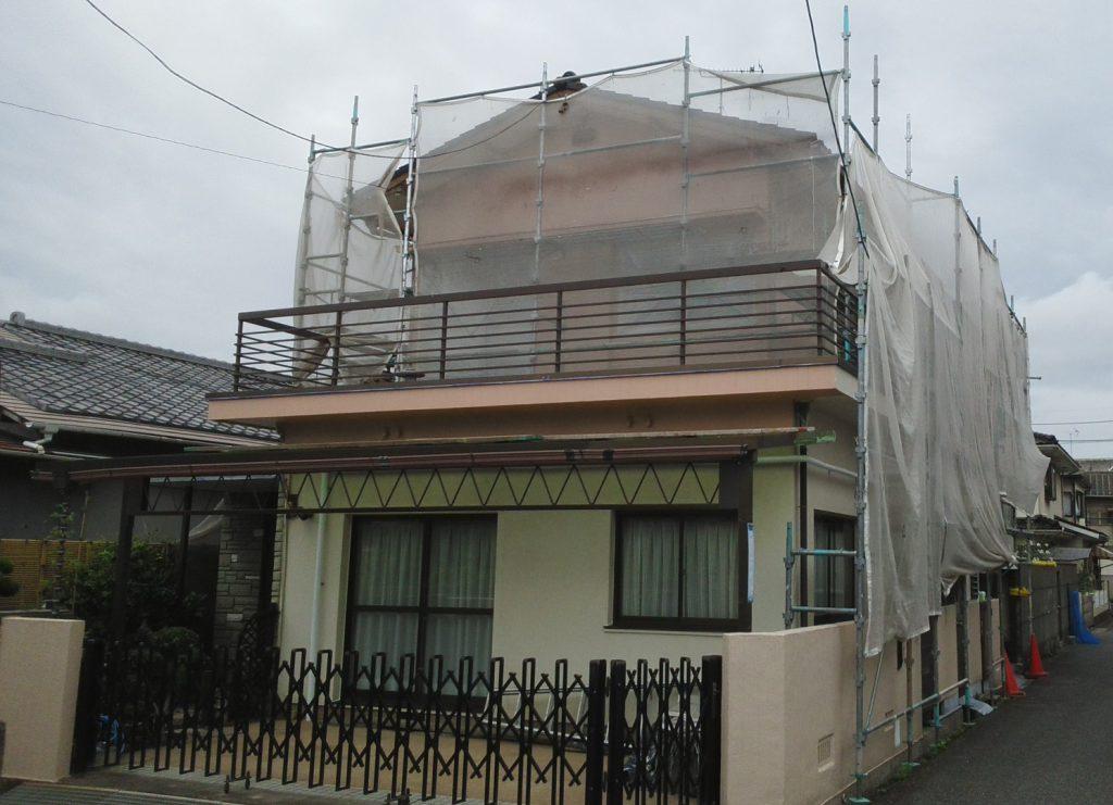 2019.7.5 岡山市北区M様邸 外壁塗装工事着工