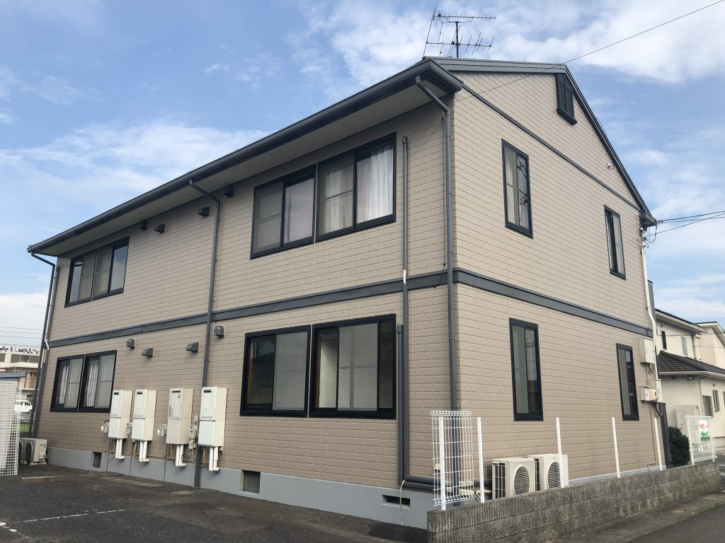 2019.7.27(土)岡山市東区某コーポ 屋根外壁塗装 施工完了後