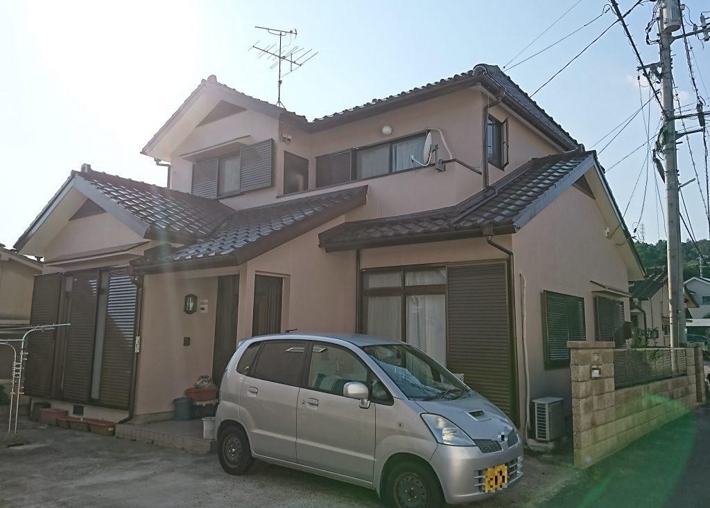 2019.9.6(金)岡山市中区O様邸 屋根、外壁塗装施工完了後