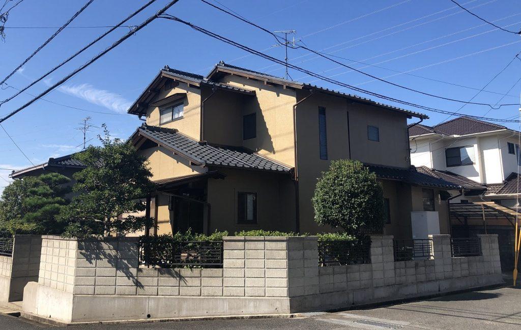 2019.9.13(金)岡山市北区F様邸 屋根、外壁塗装施工完了後
