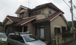 2019.9.6(金)岡山市中区O様邸 屋根、外壁塗装施工前