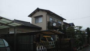 2019.10.8(火)岡山市中区T様邸 屋根、外壁塗装施工前