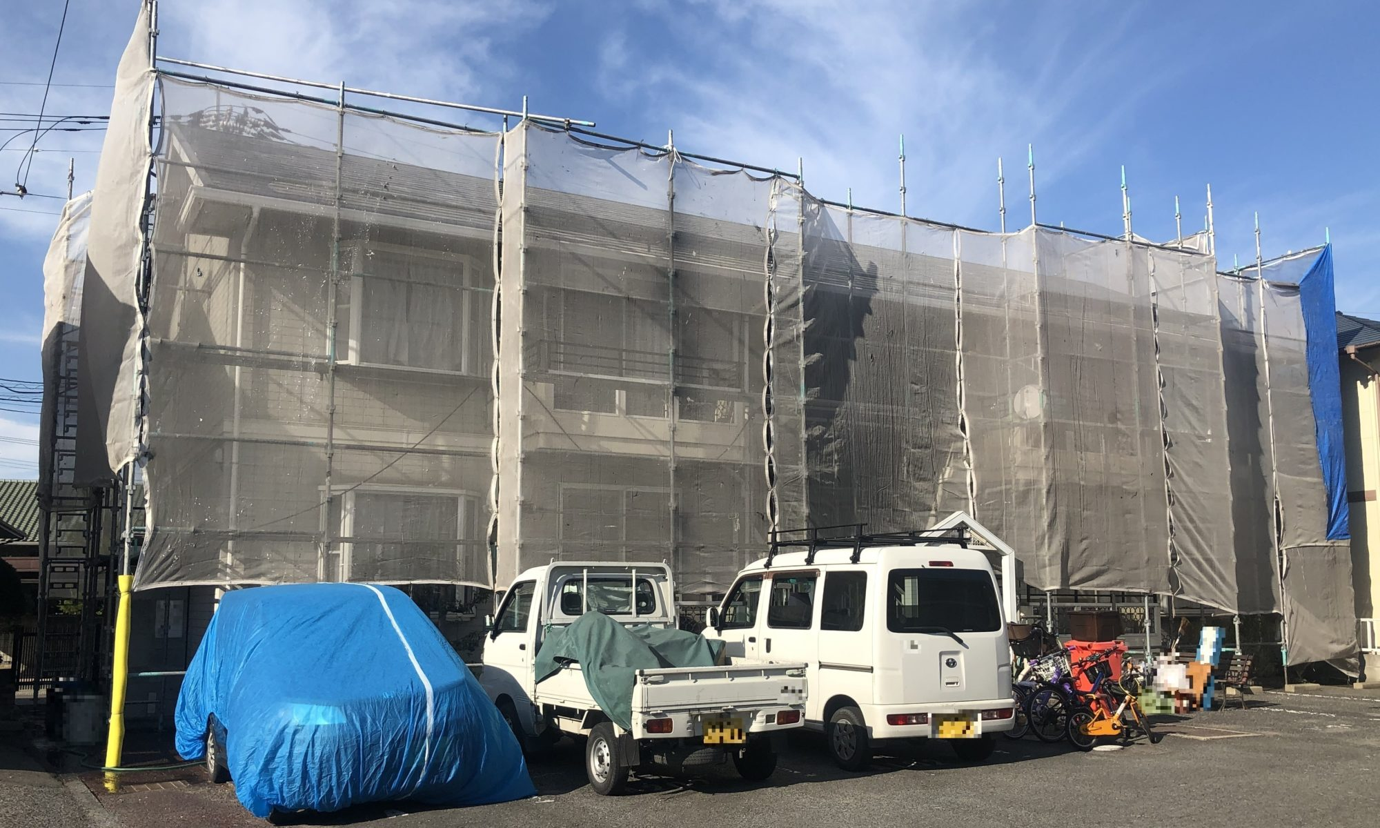 2019.10.15(火)岡山市北区某コーポ様 屋根、外壁塗装工事施工前