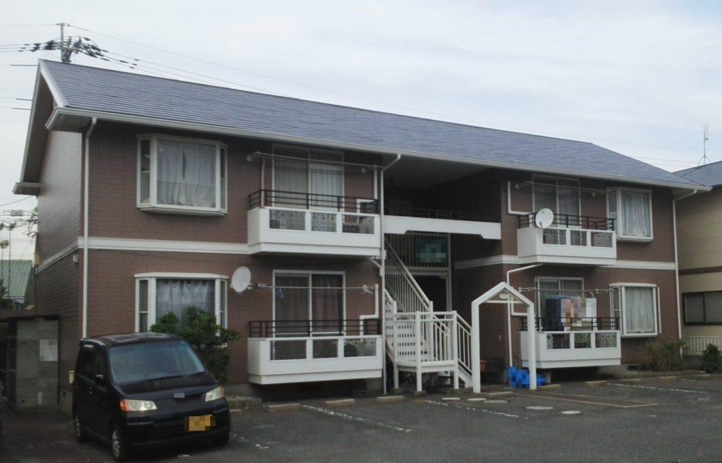 岡山市北区某コーポ 屋根・外壁塗装 施工完了後
