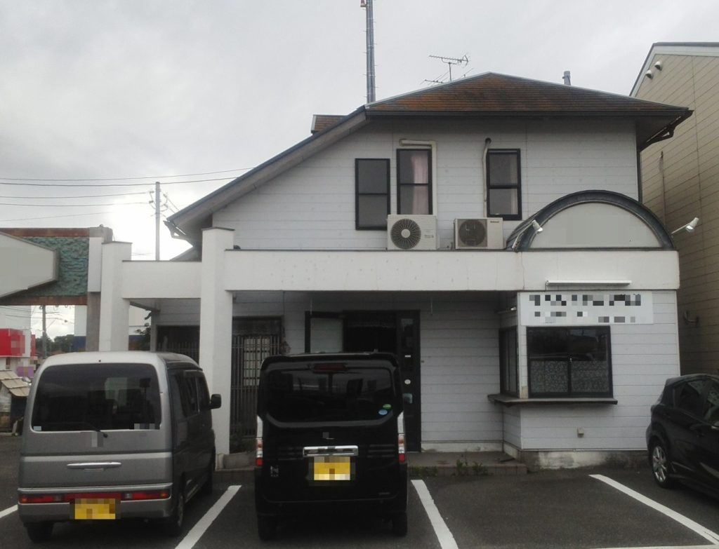 岡山市南区某店舗 屋根塗装外壁塗装 施工前