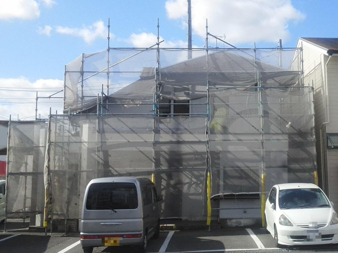 2019.10.28(土)岡山市南区某店舗様 屋根・外壁塗装工事着工