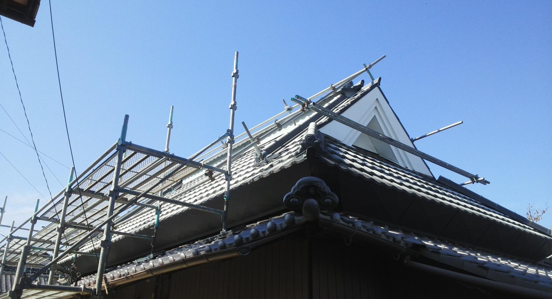 2019.11.8(金)総社市M様邸 板金屋根塗装 工事着工