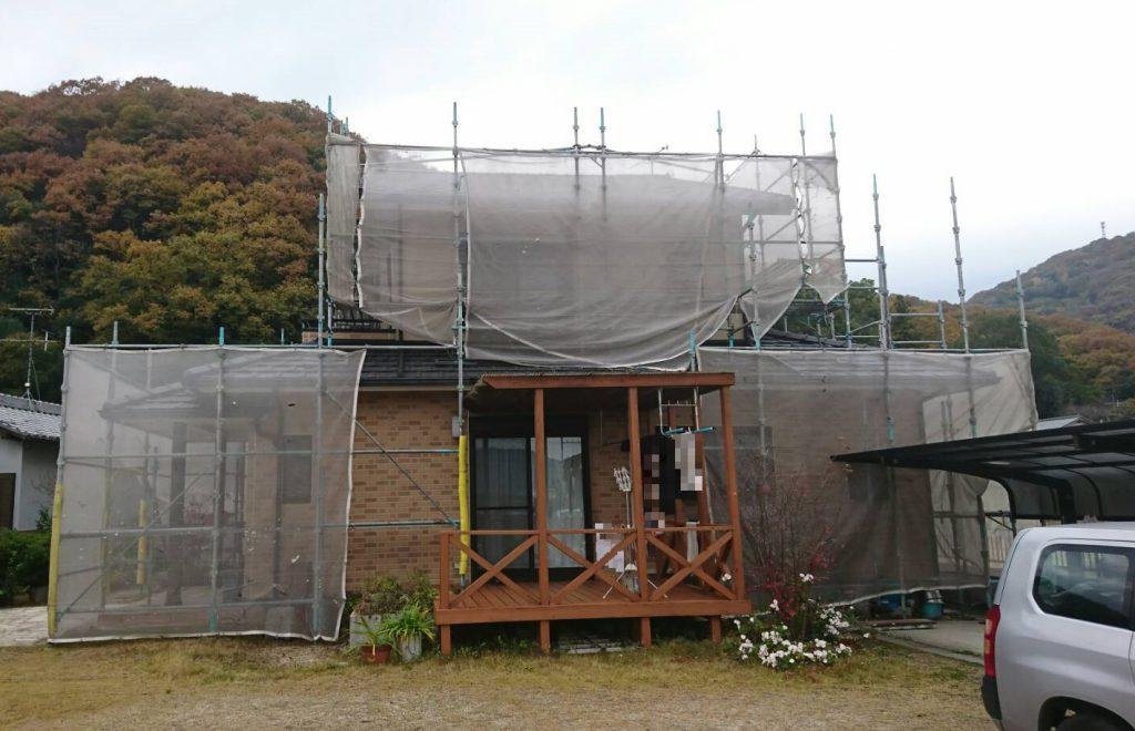 2019.11.18(月)岡山市北区S様邸 外壁 ベランダ防水工事着工